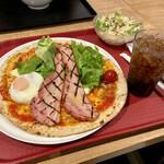 ワンディッシュピッツァミール - 料理写真:ベーコンエッグミール ランチセット