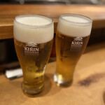 炭火焼鳥 きち蔵 - 生ビール