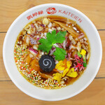 カイテイエン - 花籠をイメージした藍采和の魚介スープ麺