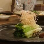 お料理とお酒 実りや - 九条ネギ炭焼き ¥650