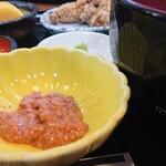 ひらはた - 肝醤油