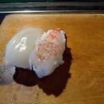 高長寿司 - 料理写真:生エビとイカ