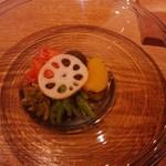 13842573 - 夏野菜の冷製煮浸し
