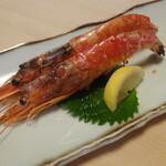 喜久寿司 - 海老塩焼き