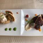 山手十番館 - 前菜 栗のキッシュ 鰹のたたき