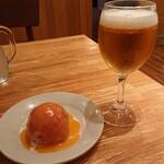 つばめグリル - lunch beer & トマトサラダ