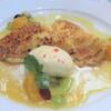 ミギワ - 料理写真:クレームパティシエールを包んだクレープ オレンジソース バニラアイス添え クレープ
