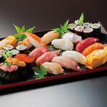 海山亭いっちょう - 種類豊富な寿司 1貫からご注文できます