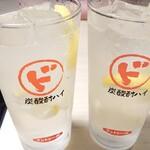 串と水炊博多松すけ - レモンサワー