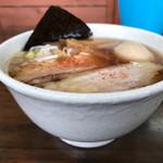太麺屋 - 小盛り650円太麺あぶらっぽく+半熟玉子100円