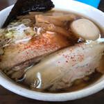 太麺屋 - 小盛り650円太麺あぶらっぽく650円+半熟玉子100円