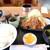 麦 - 料理写真:トンカツセットです☆ 2020-1012訪問