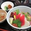 かんぽの宿 潮来 - 料理写真:ネギトロ丼(小鉢の内容は日替わりです。)