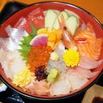魚ごころ 季魚喜人 - 料理写真:豪快漁師丼