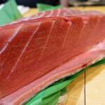 魚志 - 青森県の津軽で水揚げされた黒鮪の腹上(中トロの部位)