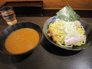 炙り味噌らーめん 麺匠 真武咲弥 堂谷商店 - 辛味玉味噌つけ麺 980円