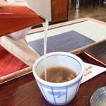 正直庵 - 蕎麦湯は程良くトロッとして美味