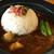 米とカレー - 料理写真:1週間煮込んだビーフカレー&お米は島根県産「つや媛」
