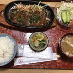 味楽 - サーロインステーキ定食(990円)
