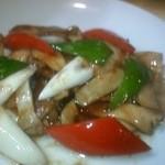 中国飯店 桃花島 - アワビの炒め物の小です