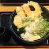 手しごと讃岐うどん 讃々 - 料理写真:野菜天ぶっかけ+麺の量 ダブル