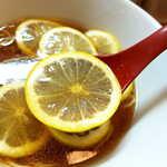 りんすず食堂 - レモンは途中で取り出すのが基本だが、個人的には終盤まで入れておいて全然問題なし!