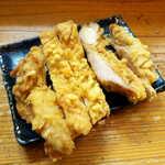 りんすず食堂 - 鶏天。もも肉をカリッとクリスピーに揚げてあり、フライドチキンに近い。非常にボリュームある一品