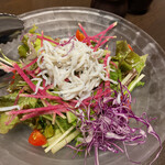 旬魚介×串揚げ Kushi‐Toria M's - シラス野菜サラダ