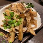 旬魚介×串揚げ Kushi‐Toria M's - エノキとホッキ貝のバターソテー