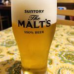 メランツァーネ - 生ビール