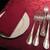 ザ・カステリアンルーム - その他写真:紅のテーブルクロスとナプキン