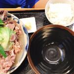 宮良そば - 骨汁定食