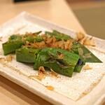 まずい魚 青柳 - 万願寺唐辛子焼き