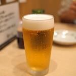 まずい魚 青柳 - 生ビール(小)」