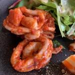 ラ・ベファーナ - 烏賊のトマトソース和え