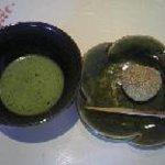 和食庵 日月 - 抹茶とごま団子