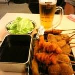 串カツ田中 - ビールと串カツ