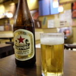 有楽町 うなぎのお宿 - 瓶ビール(700円)