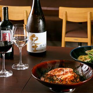 パスタ×自然派ワイン、パスタ×日本酒のマリアージュを堪能◎