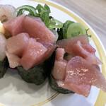かっぱ寿司 - これは美味しかった。メバチのたたきですね