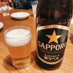 酒巴 菜華 - サッポロ黒ラベル  中瓶