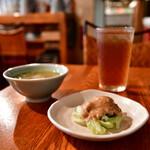 ブリ・マデ - 【ナシ チャンプル@1,000円】スープ&サラダ