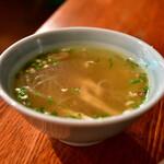 ブリ・マデ - 【ナシ チャンプル@1,000円】スープ