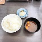 眺河 先斗町~華~ - ご飯、お味噌汁、香の物