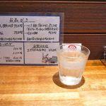 麺屋吉左右 - 店内カウンターとメニュー@2012/6