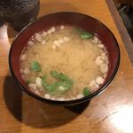 いわさき - 揚げ玉入りお味噌汁