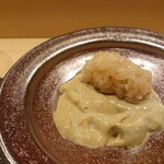 Kagurazaka sushi tamura - 肝寿司