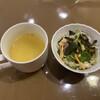 フリージア - 料理写真:スープ&サラダ 先にサラダを食べて血糖値上昇を抑制w