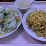 中華大千居 - Iセット(五目野菜うま煮+チャーハン+スープ)