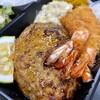 キッチン TANKO - 料理写真:天然海老フライとハンバーグのセット